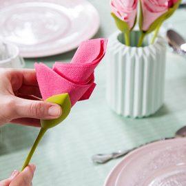 držači za salvete u obliku ruže