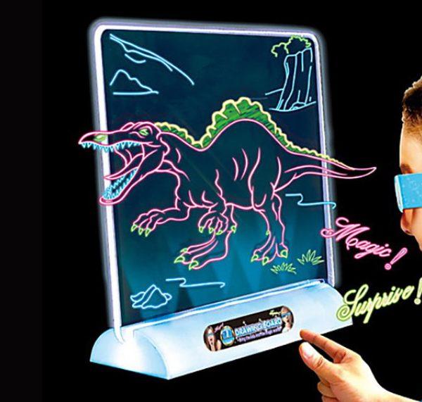 3D svetleća tabla za crtanje